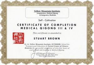MQ3 & 4 Certificate